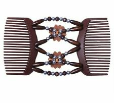 Elasticity Double Beaded Clip Hair Comb Stylish Tool Hairdressing Stretchy Brush