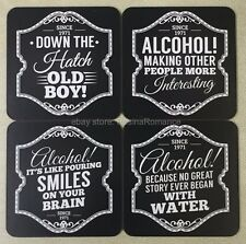 Gentlemens Quarters Coaster Set Alcohol Great Story Smiles Interesting Old Boy