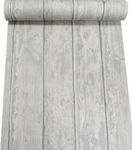 Wood Wooden Panels Planks Wallpaper Paste The Wall Natural Grey Textured Vinyl