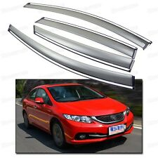 Side Window Visor Vent Shade Rain/Sun/Wind Guard for Honda Civic 2012-2014 2013