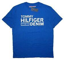 MEN/'S TOMMY HILFIGER DENIM GRAPHIC CREW NECK T-SHIRT TEE BLUE WHITE M MEDIUM