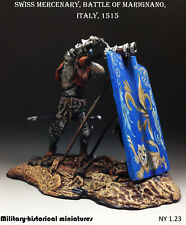 Swiss Mercenary, Tin toy soldier 54 mm, figurine,metal sculpture HAND PAINTED