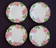 "4 FRANCISCAN Vintage DESERT ROSE Pattern DINNER PLATES 10½"" USA Gladding McBean"