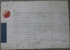 1778, King George III, signed military commission, General Robert Boyd, Adjutant