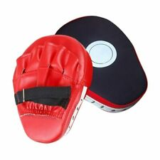Boxing Focus Pads Hook & Jab Mitts MMA Thai Kick Training Punch Bag Curved Pads