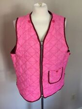 OILILY THE GIRLS PINK QUILTED VEST PINK SZ 16 XL