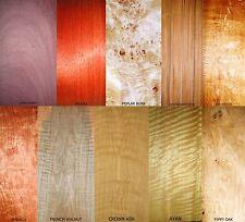 10 in vero legno impiallacciatura esotico Fogli Per Artigianato, intarsio, restauro, scatole,