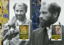Liechtenstein 2018 MAXI Gustav Klimt 100th Memorial The Kiss 2v Cards Art Stamps