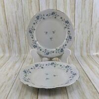 "Johann Haviland China Blue Garland Dinner Plates 10"" Bavaria Germany - Set of 2"