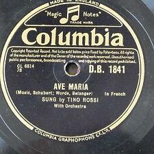 78rpm TINO Rossi AVE MARIA-Francese/AVE MARIA-Latino DB 1841