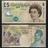 OLD £5 NOTE BANK OF ENGLAND POUND 2004 ELIZABETH FRY SIGNED BY CHRIS SALMON