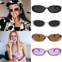 Women Oval Sunglasses Ellipse Frame Vintage Small Glasses Fashion Retro Shades