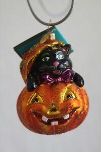 "Christopher Radko - ""CAT - O - LANTERN"" / Cat/Pumpkin - 1013530 / 2006  NWTS Ret"