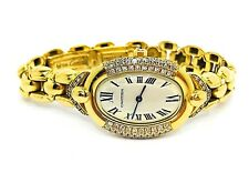 CARTIER Vintage Baignoire Diamonds & 18k. Yellow Gold Ladies Used Watch 90's
