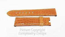 PANERAI Genuine Light Tan 22mm Crocodile Leather Watch Band