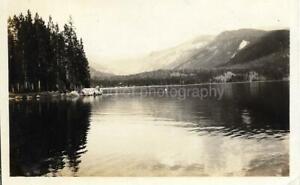 Found ANTIQUE PHOTOGRAPH bw GRAND LAKE 1920´s Original Snapshot  JD 13 18 A