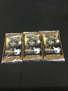 Warlord Saga Of The Storm Light & Shadow Booster Packs x3 (Sealed, OOP)