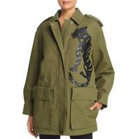 Escada Sport Womens Green Sequined Winter Warm Coat Outerwear 34 BHFO 5074