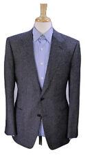 * TOM FORD * Black/Gray Woven Dots Wool Patch Pocket 2-Btn Blazer Jacket 40R