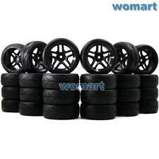 24pcs 1/10 on road arrows Tires and hex 12mm Wheels rims For RC 1:10 Touring Car