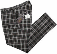 Relco Mens Black Tartan Check Sta Press Style Trousers Mod Skin Vtg Stay Pressed