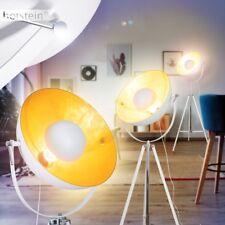 Retro Weiß Gold Steh Stand Boden Leuchte Film Strahler Wohn Schlaf Zimmer Lampe