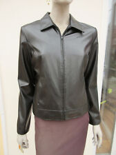 Soon - Womens Black PVC Zipped Jacket - size 12