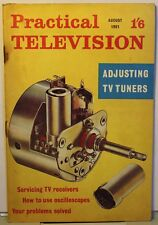 Practical Television Mag - August 1961 - Adjusting TV Tuners - Regentone TR 177