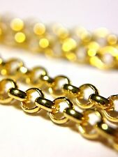 """New! 20""""  2.5mm 18K Yellow Gold over Sterling Silver 925 Rolo Chain Necklace"""