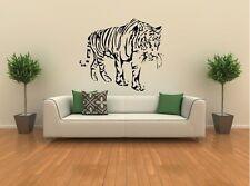 Tiger laufend Afrika Dschungel Wandtattoo Wallpaper Wand Schmuck 76 x 58 cm