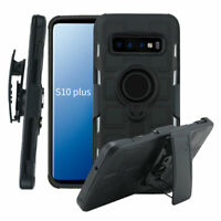 For Samsung Galaxy S10 S10+ S10e Phone Case Kickstand Holster Belt Clip Cover