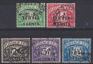 BOIC: BA Eritrea 1950 SG ED6 - 10 Sc J6 - J10, Postage Due, VFU