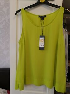 Primark Lime Green Camisole Top  Size 14 New