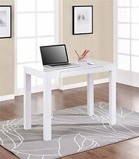 Table Decor Desk Home Study Furniture Drawer Office Dorm Laptop Wood White