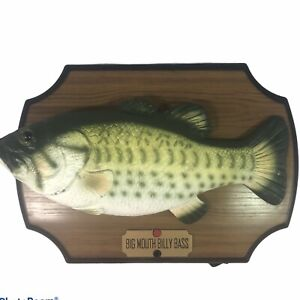 Vintage 1999 Big Mouth Billy Bass Singing Sensation Motion Activated 13x9x4""