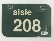 WRIGLEY FIELD GAME USED AISLE MARKER 208 CHICAGO CUBS MLB AUTHENTICATED