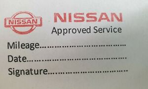Nissan stamp garage service maintenance stamp service history