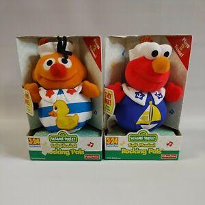 2000 Sesame Street Soft Musical Rocking Pals Elmo and Ernie Lot of 2  NIB