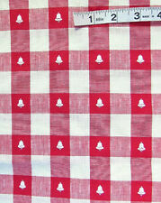 2 yds Red,White Woven Check,Woven White Bells,Silver Foil Cotton Fabric,Crafts