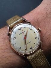 1940s Marvin 14k Solid Rose Gold Mens Watch 33,7mm Fancy Lugs