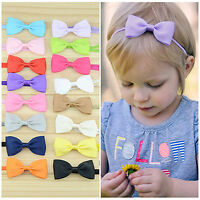 FT- 10Pcs Infant Baby Girl Bow Headband Newborn Hair Band Headdress Headwear Che