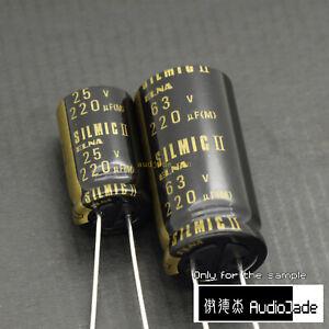 [AudioJade] 220uF 25V 63V ELNA RFS SILMICII 2 HiFi Audio Capacitors