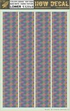 HGW 1:32 5 Color Lozenge Faded Base White Fabric Texture Lower Decal #532049