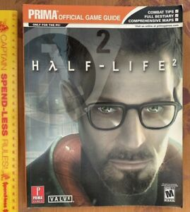 ORIGINAL HALF LIFE 2 PRIMA STRATEGY GAME GUIDE PC LIKE NEW + AOL DISC UNOPENED!