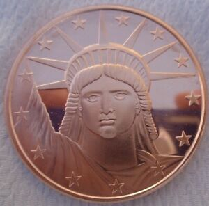 1 oz. Statue of Liberty Commemorative .999 fine copper round