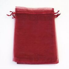 1, 10, 25, 50 or 100 Organza Bags / Jewellery Pouches 9x12cm Various Colours UK