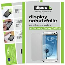 2x Samsung Galaxy S3 i9300 Schutzfolie matt Displayschutz Folie Antireflex