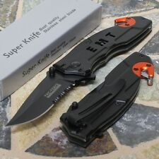 Tac-Force Speedster Black Blade EMT Tactical Rescue Folding Pocket Knife Orange
