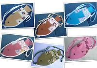 Kinder Brustbeutel Geldbeutel Brusttasche  Stoff Fisch Baumwolle Klein Tasche