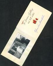 1948  NORM  VAN  BROCKLIN  ALL  .AMERICAN  AUTOGRAPH  PHOTOCARD    EX+   !!